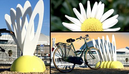 Flower Bike Rack