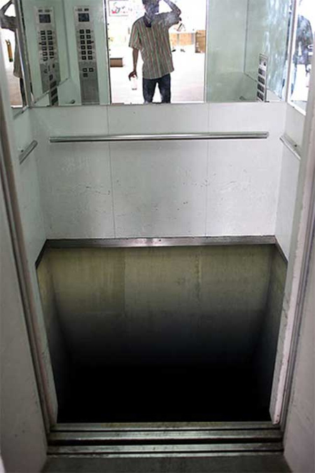 Elevator floor illusion for Elevator flooring options