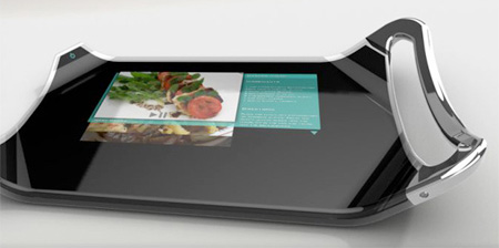 Cutting Board With Integrated LCD Display