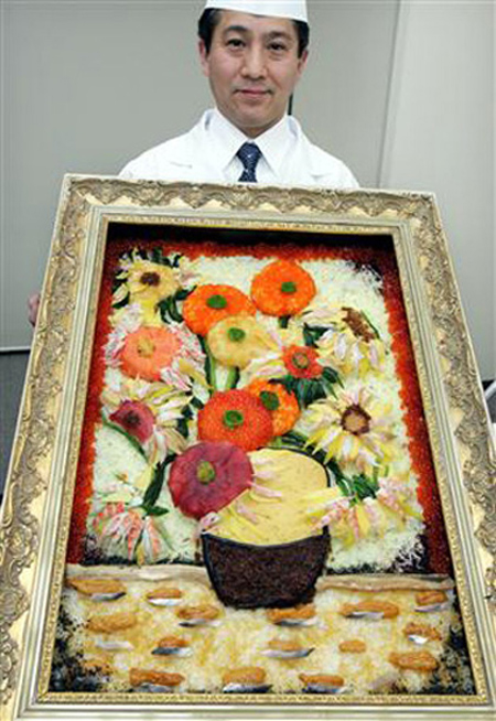 Japanese Sushi Sunflowers