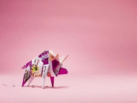 Whiskas Origami Advertisement