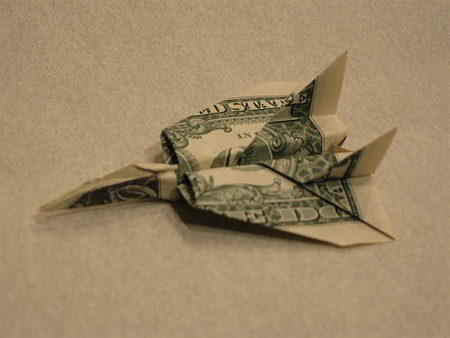 Origami F14 Airplane