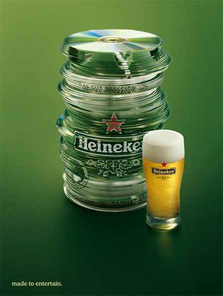 Heineken Made to Entertain Ads CDs