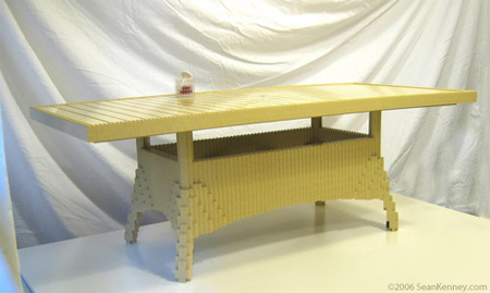Schou teak and wicker table