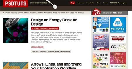Websites with Photoshop Tutorials 01