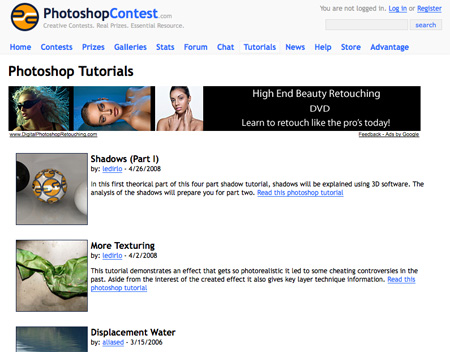 Websites with Free Photoshop Tutorials 11