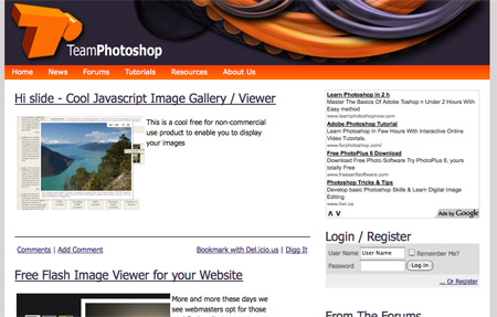 Websites with Free Photoshop Tutorials 15