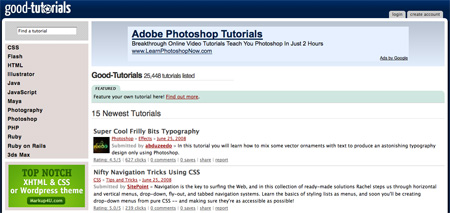 Websites with Photoshop Tutorials 02