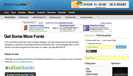 Websites with Photoshop Tutorials 03