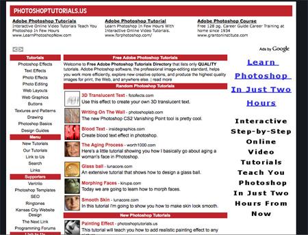 Websites with Photoshop Tutorials 04