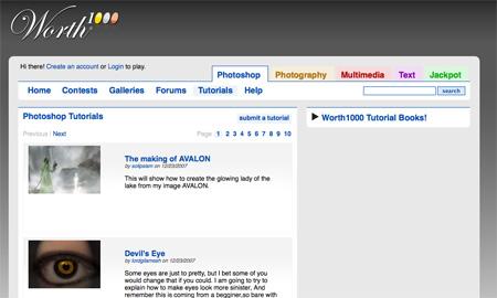 Websites with Photoshop Tutorials 05