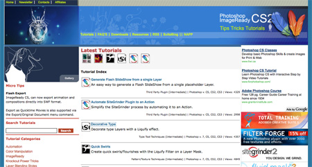Websites with Photoshop Tutorials 06