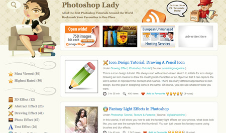 Websites with Photoshop Tutorials 07