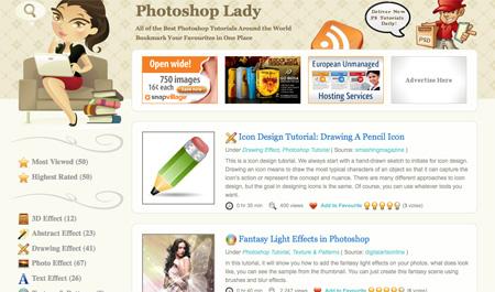 Websites with Photoshop Tutorials 07