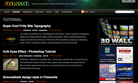 Websites with Free Photoshop Tutorials 08