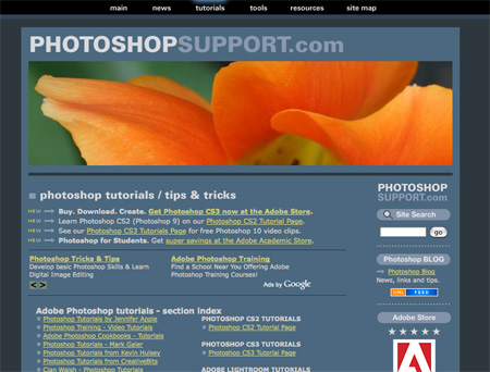 Websites with Free Photoshop Tutorials 09