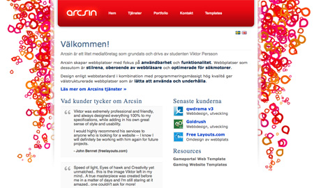 Red CSS Website Designs 11