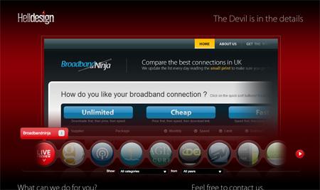 Red CSS Website Designs 14