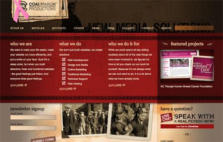 Red CSS Website Designs 21