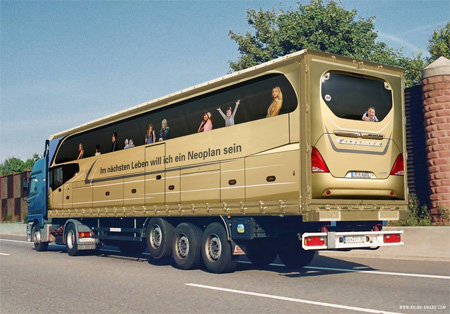 Creative Truck Advertisement