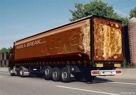 KitKat Truck Advertisement