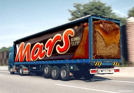 Mars Truck Advertisement