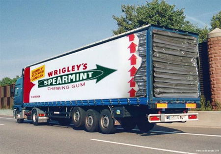 Gum Truck Advertisement