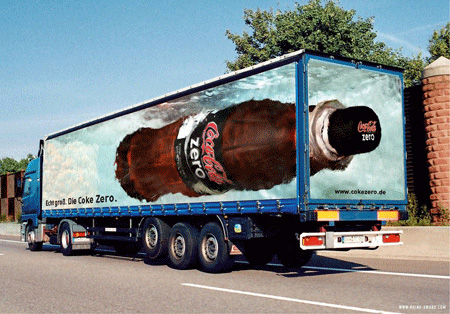 Coca Cola Truck Advertisement