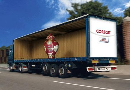 Corega Truck Advertisement