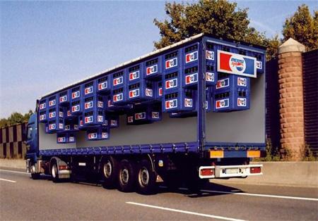 Pepsi Truck Advertisement