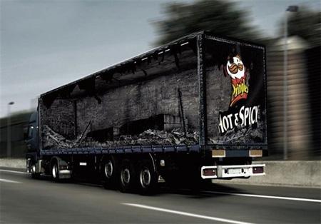 Pringles Truck Advertisement