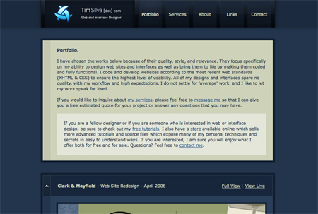Blue CSS Website Designs 02