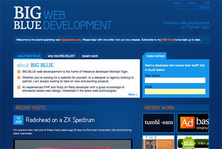 Blue CSS Website Designs 17