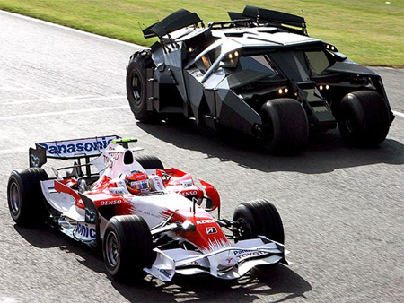 Toyota F1 vs Batmobile Video