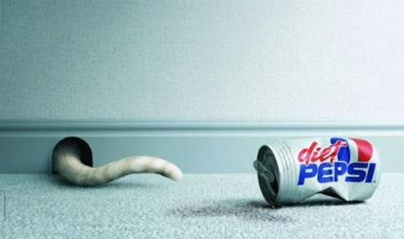 Pepsi Cat Advertisement