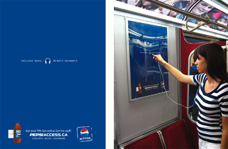 Pepsi Access Advertisement