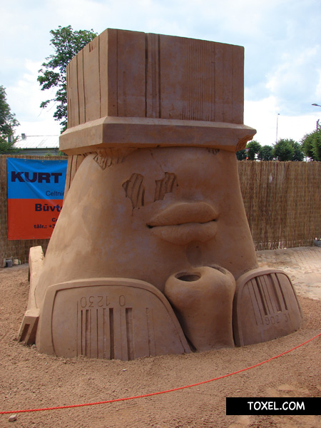 Upside Down Sand Sculpture