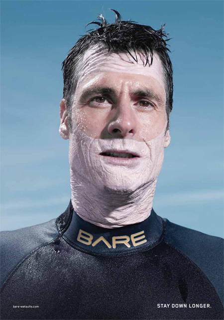 Bare Wetsuits Advertisement