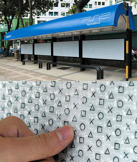 Playstation Bus Stop Advertisement