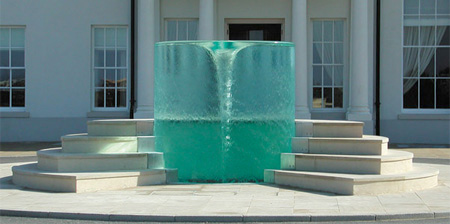 Vortex Water Sculpture by William Pye