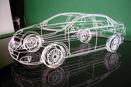 Wireframe of Toyota Corolla 2