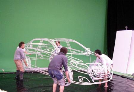 Wireframe of Toyota Corolla 3