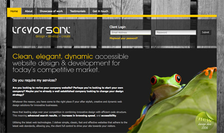 Yellow CSS Website Designs 11