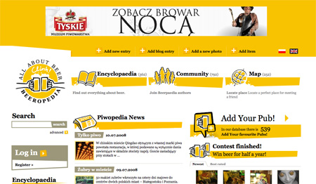 Yellow CSS Website Designs 09