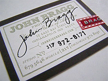 John Bragg Business Card