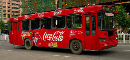 Coca-Cola Bus Advertisement