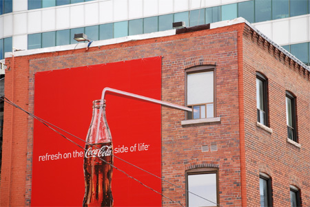 Coca-Cola Straw Advertisement