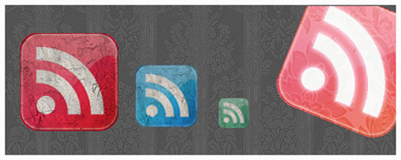 Grunge Style Rss Feed Icons