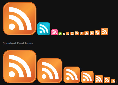 Nice Collection of Feed Icons