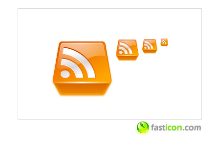 3D Rss Feeds Icons